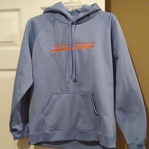 Under armour blue fleece hoodie, large